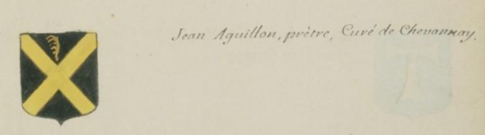 Blason d'un Aguillon - Armorial Hozier 1697